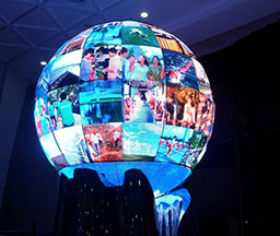 Hangzhou, China Low-carbon Museum Project Model P4 three-in-one indoor spherical screen Item Size 19.506㎡