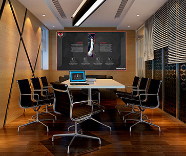 X-board in meeting room